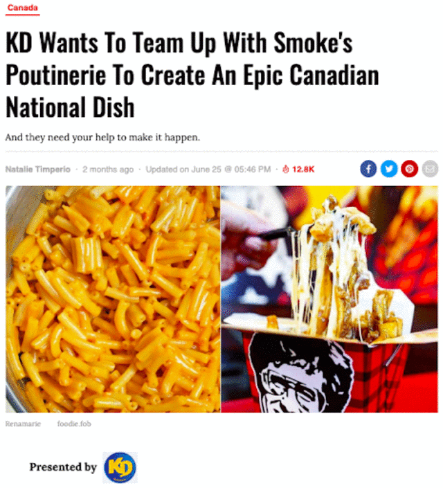 Canadian National Dish